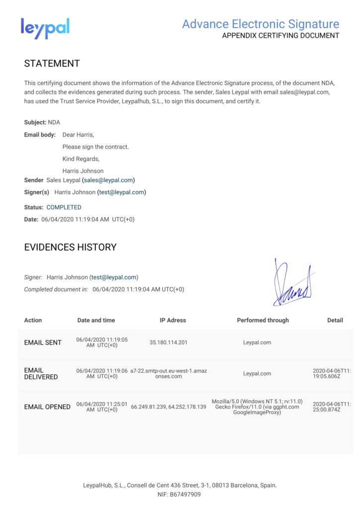 certifying document